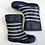 Thumbnail: Wellies - Stripes - Shoe Size 8 (jr)
