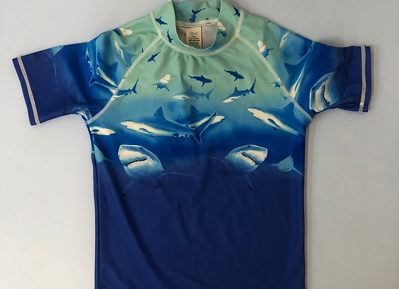 Shark Print Boys Swim Vest Age 8