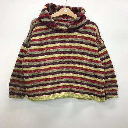Hoodie - Knitted & Stripes - Age 7