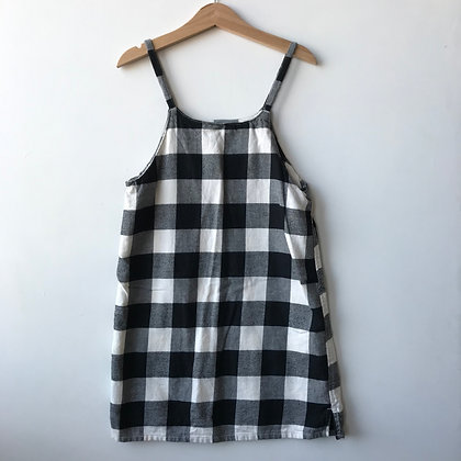 Dress - Black Check - Age 6