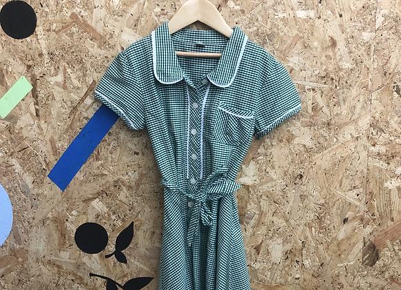 Summer Dress - Green with buttons