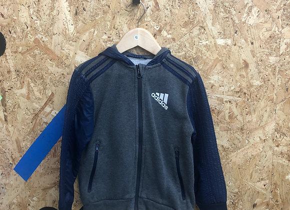 Adidas Navy and Grey Age 5 Zipper