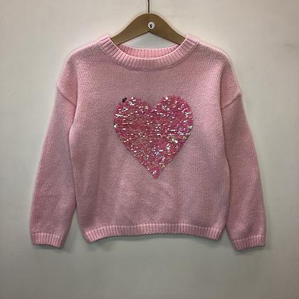 Jumper - Pink heart - Age 5