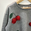 Thumbnail: Jumper - Grey with cherries - Age 8