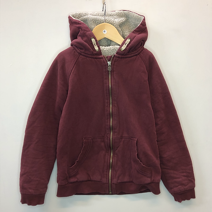 Hoody - Burgundy with lining - Age 11
