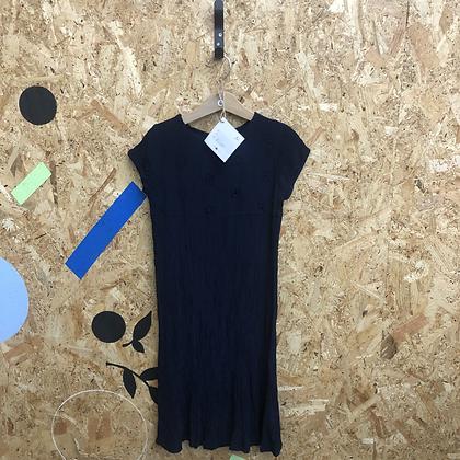 Dress - Navy crepe - Age 6