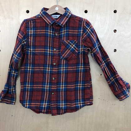 Shirt - Plaid Red Blue Yellow - Age 5