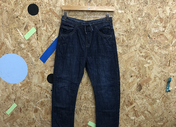 Blue Denim Jeans with Elasticated Waistband Age 13