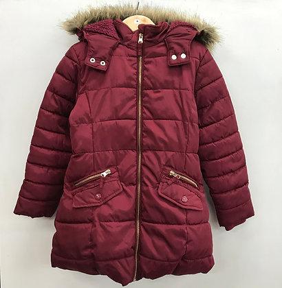 Jacket - Puffy Burgundy - Age 7