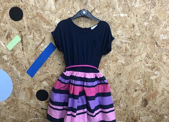 Dress - Navy & stripy - Age 5