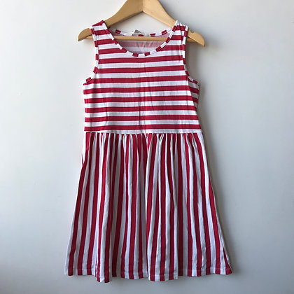 Dress - Red Stripes - Age 7