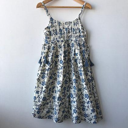 Dress - Blue Floral - Age 8