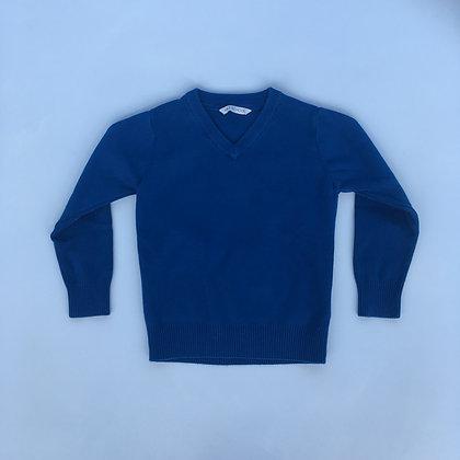 Blue V-neck Jumper - M&S