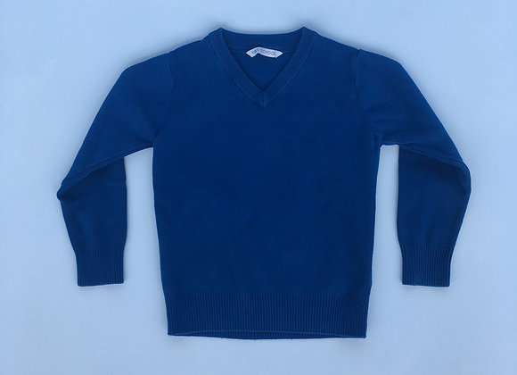 Blue V-neck Jumper - M&S