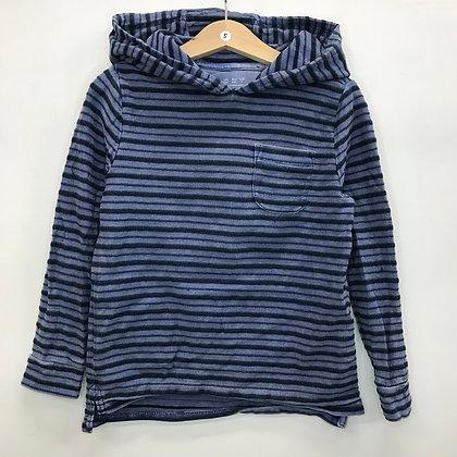 Hoodie - Blue Stripes - Age 5