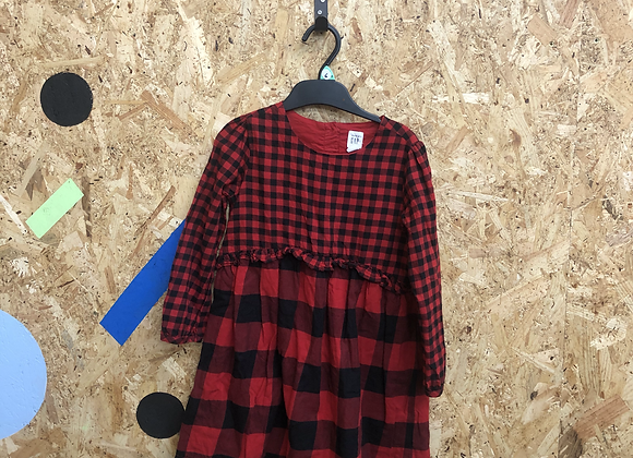 Dress - Red check - Age 6