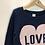 Thumbnail: Jumper - Navy love - Age 7