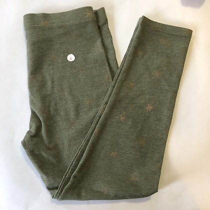 Leggings - Green with Stars - Age 6