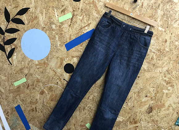 Blue Denim Jeans with Elasticated Waistband Age 14