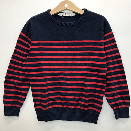 Jumper - Red Stripes - Age 5
