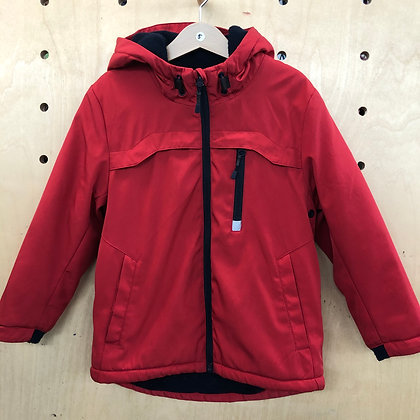 Jacket - Red light weight lined - Age 5