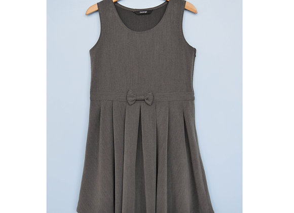 Pinafore - Uniform - Grey with bow