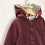 Thumbnail: Hoody - Burgundy with lining - Age 11