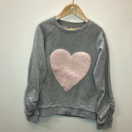 Jumper - Grey with heart - Age 6