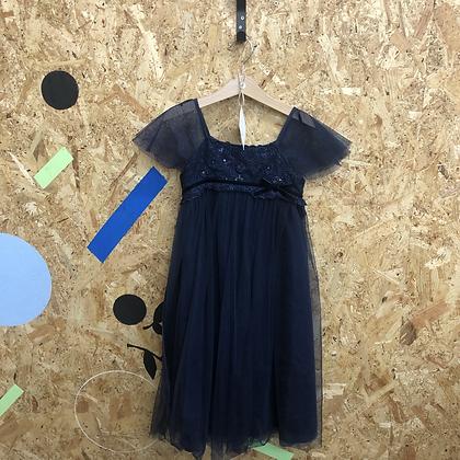 Dress - Navy sequins - Age 7