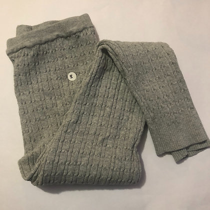Leggings - Grey Knitted - Age 8