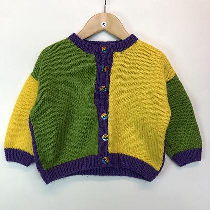 Cardigan - Multicolour Knit - Age 4