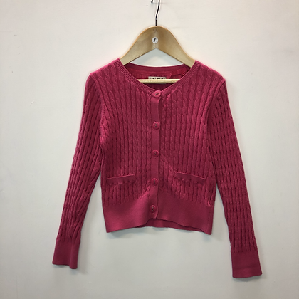Cardigan - Pink cable knit - Age 5