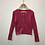 Thumbnail: Cardigan - Pink cable knit - Age 5