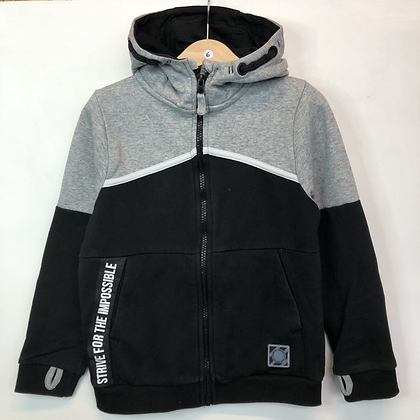 Hoody - Grey & Black - Age 6
