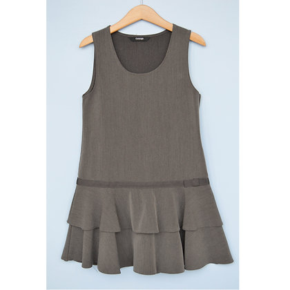 Pinafore - Uniform - Grey with rara bow