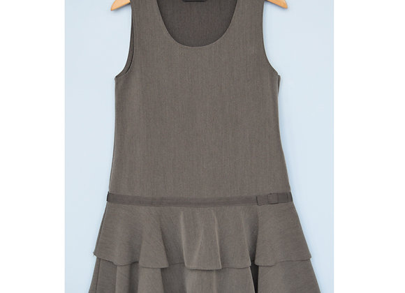Pinafore - Grey with Bow