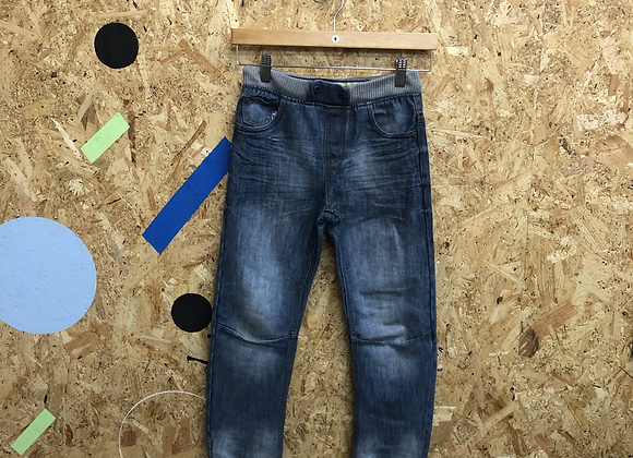 Blue Denim Jeans with Elasticated Waistband Age 9