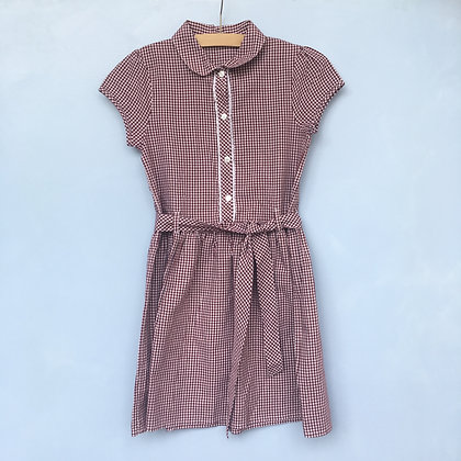 Summer Dress - Maroon with buttons