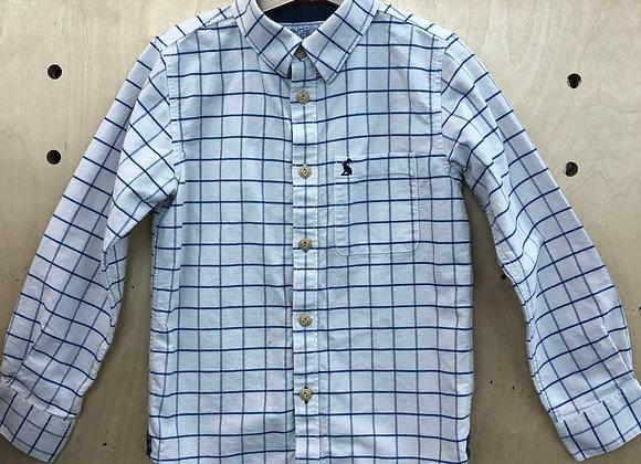 Shirt - Checked White Blue - Age 7