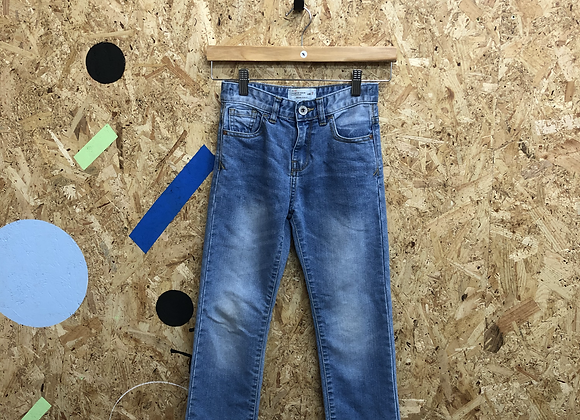 Light Blue Denim Jeans with Fading Age 7