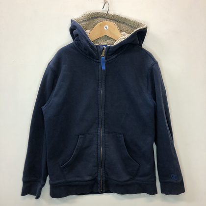 Hoody - Navy and lined - Age 8