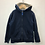 Thumbnail: Hoody - Navy and lined - Age 8