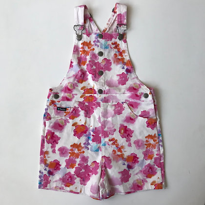 Dungarees - Floral Pattern - Age 7