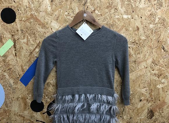 Dress - Grey knit - Age 7