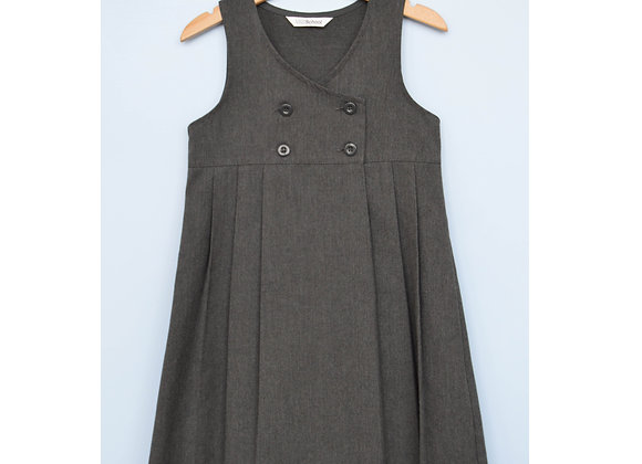 Pinafore - Grey M&S Double breasted