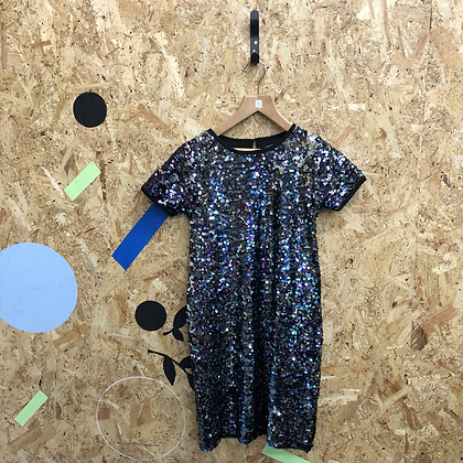 Blue sequin girls party dress size 9
