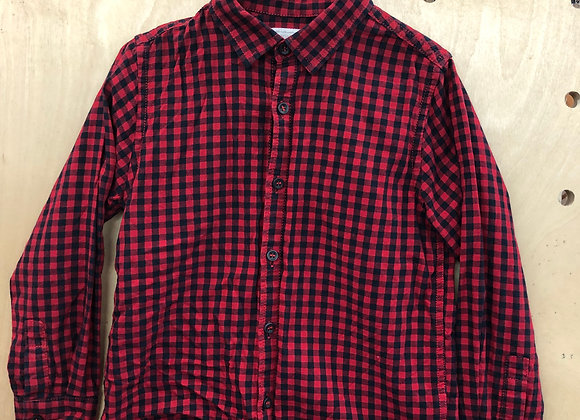 Shirt - Checked Red Black - Age 4