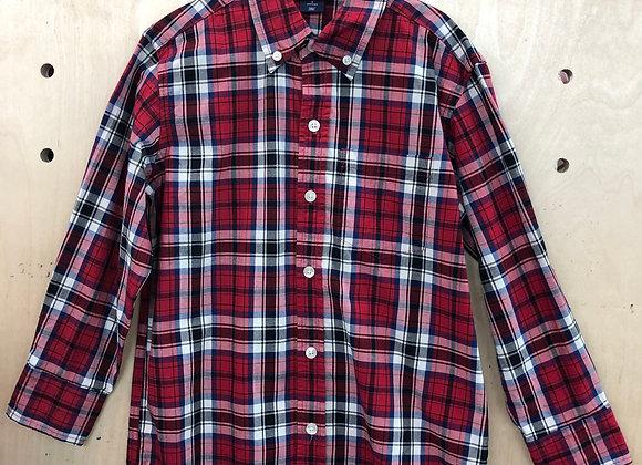 Shirt - Plaid Red Black White - Age 5