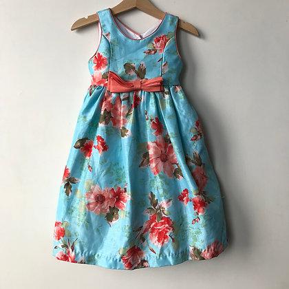 Dress - Blue Floral - Age 3