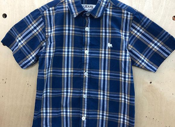 Shirt - Jasper Conran Plaid Navy Yellow - Age 6